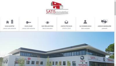Site internet de Satis Immobiler