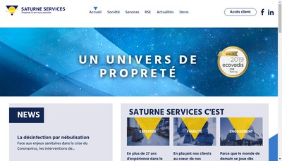 Site internet de Saturne Services