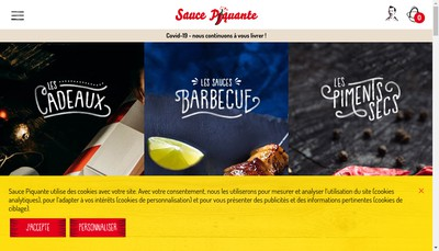 Site internet de Sauce Piquante