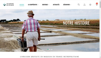 Site internet de Cooperative des Sauniers Ile de Re