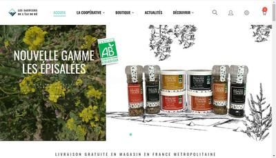 Site internet de Les Sauniers Retais