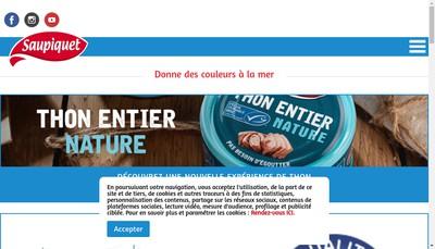 Site internet de Le Thon Saupiquet