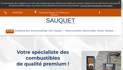 Site internet de Transports Sauquet SA