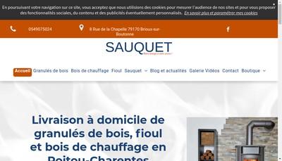 Site internet de SARL Sauquet