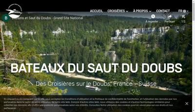 Site internet de Vedettes du Saut du Doubs,Vedettes Bisontines,Bateaux de Besancon,Saut du Doubs Accueil