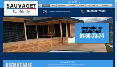 Site internet de SAUVAGET C&S