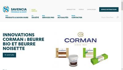 Site internet de Savencia Fromage & Dairy Europe