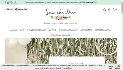Site internet de Save The Deco