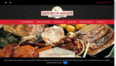 Site internet de Saveurs des Mauges