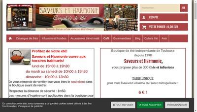 Site internet de Saveurs et Harmonie
