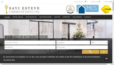 Site internet de Agence Savi Esteve