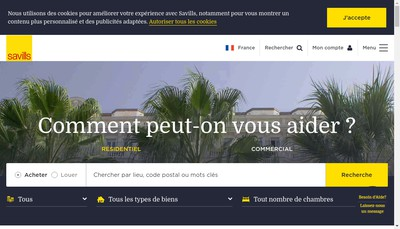 Site internet de Savills
