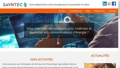 Site internet de Savntec