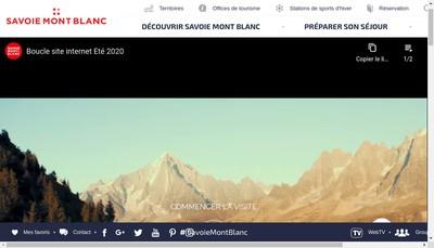 Site internet de L'Agence Savoie Mont Blanc