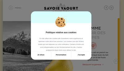Site internet de Savoie Yaourt
