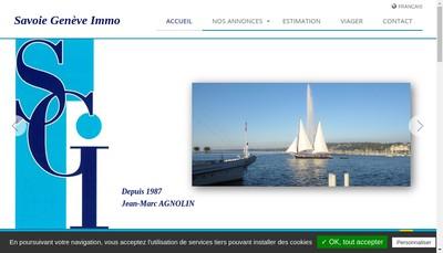 Site internet de Savoie Geneve Immo