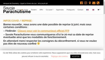 Site internet de Savoie Parachutisme
