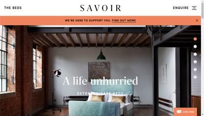 Site internet de Savoir Beds France