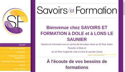 Site internet de Savoirs et Formation