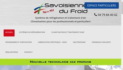 Site internet de Savoisienne du Froid