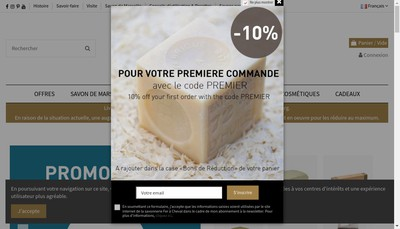 Site internet de Nouvelle Compagnie des Detergents et du Savon de Marseille