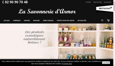 Site internet de La Savonnerie d'Armor