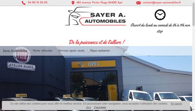 Site internet de Alexandre Sayer Automobiles