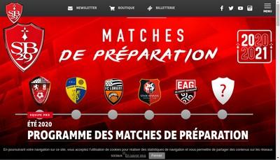 Site internet de Stade Brestois 29
