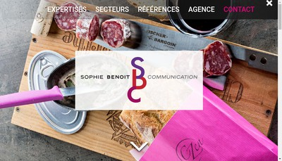 Site internet de Sophie Benoit Communication