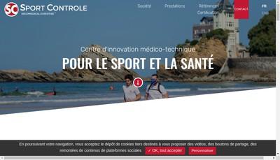 Site internet de Sport Controle
