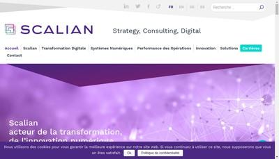 Site internet de Scalian Digital Systems