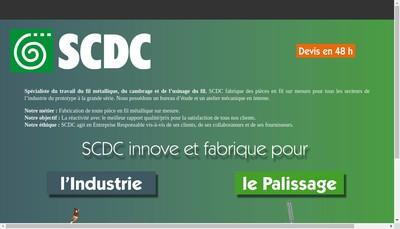 Site internet de SCDC Filtreco