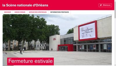 Site internet de La Scene Nationale d'Orleans - Theatre d'Orleans