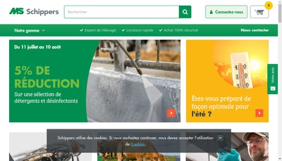 Site internet de Schippers France