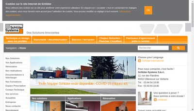 Site internet de Schluter Systems