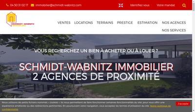 Site internet de Schmidt Wabnitz Gestion Immobiliere