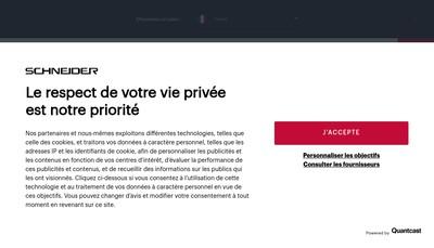 Site internet de Schneider Consumer Ip