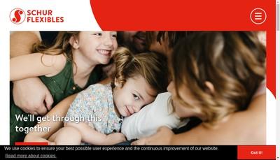 Site internet de Schur Flexibles Uni Roto