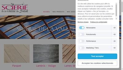 Site internet de Scierie de la Vallee Su Salat