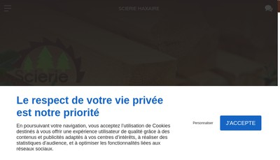 Site internet de Scierie Haxaire