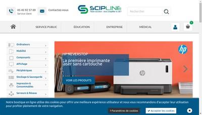 Site internet de Scipline