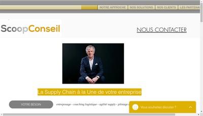 Site internet de Scoop Conseil