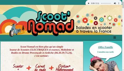 Site internet de Scoot'Nomad