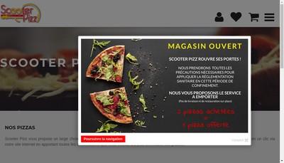Site internet de Scooter Pizz