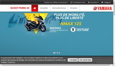 Site internet de Scoot Paris 16