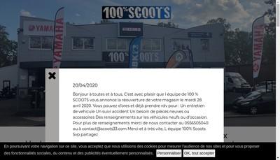 Site internet de Scoots 33
