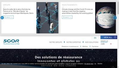 Site internet de Scor