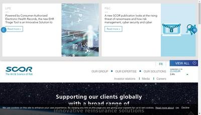 Site internet de Scor Capital Partners