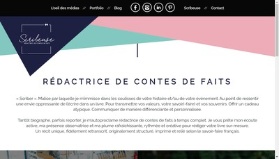 Site internet de Scribeuse