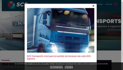 Site internet de SARL Scs Transports